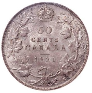 1921 Canada 50 Cents