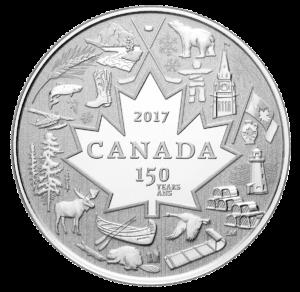 Canada 150 silver coin