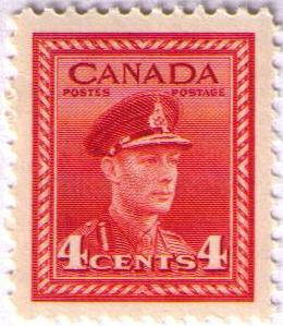War Issue Stamps 4 cent red