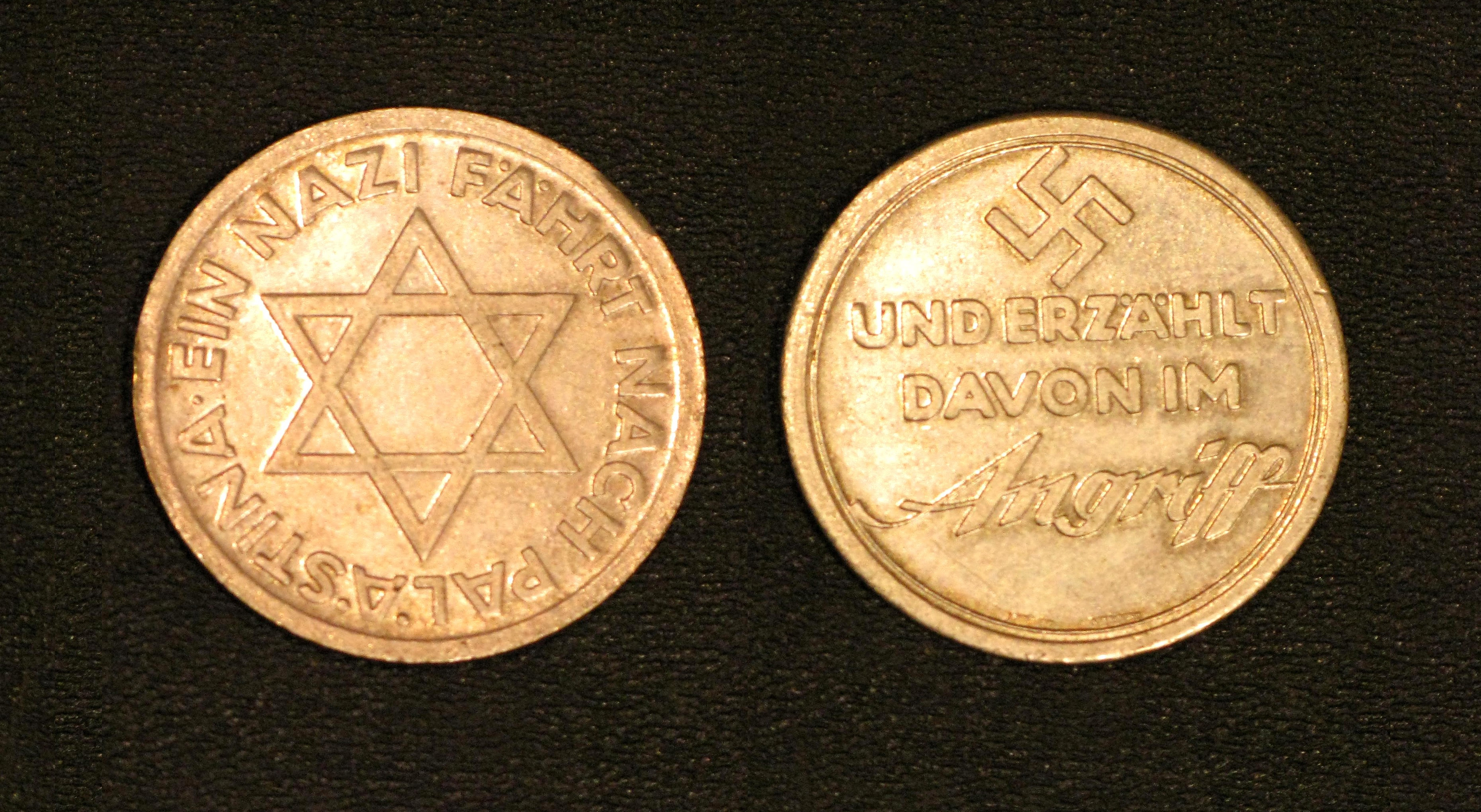 Little Known Medal Marks Nazi Zionist Co Operation In 1933