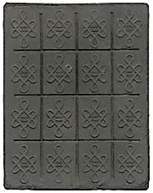 China Tea Brick Money - Reverse
