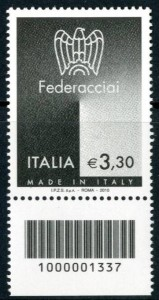 Italy 2010 Magnetic Stamp
