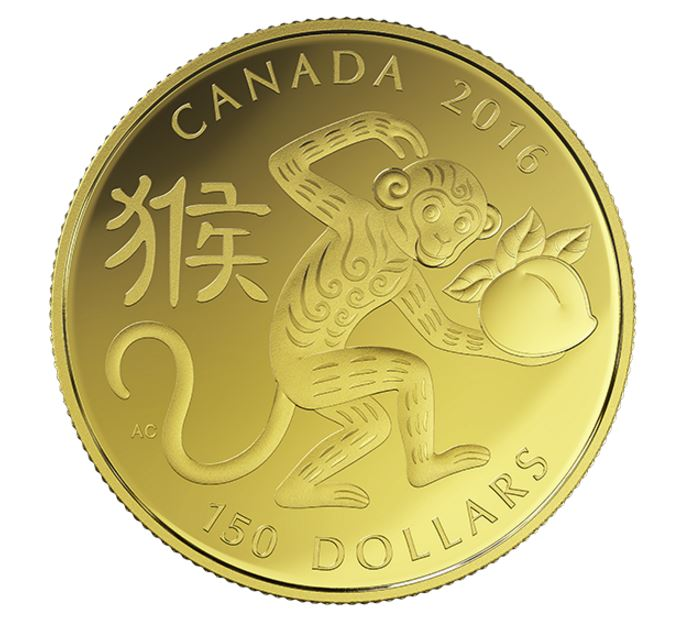 Canada 150 Dollars The Year Of The Monkey