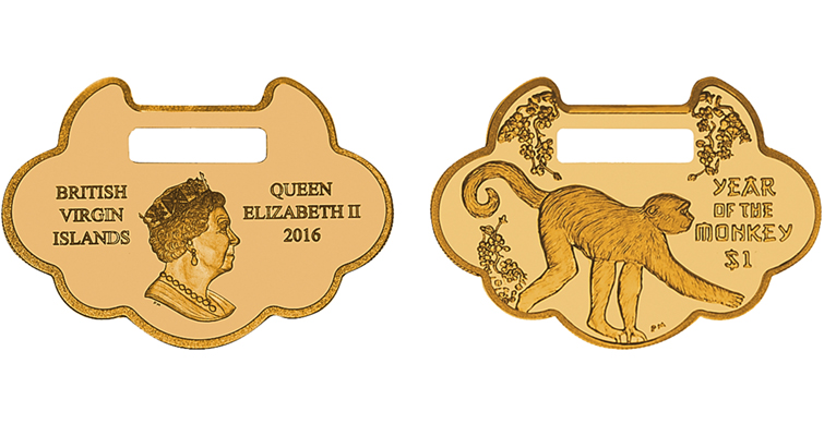 2016 British Virgin Islands $1 Coin