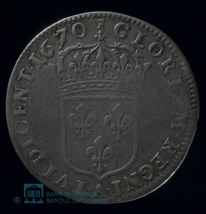 1670 15 Sols Louis XIV reverse