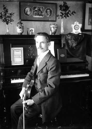 Philip Timms, Vancouver with violin and piano