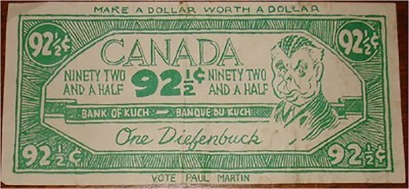 Diefenbuck - 92-1/2 cents. Same both sides.