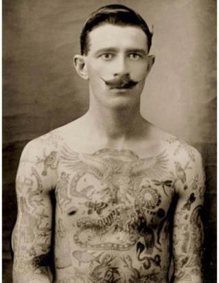 George V with dragon tattoo