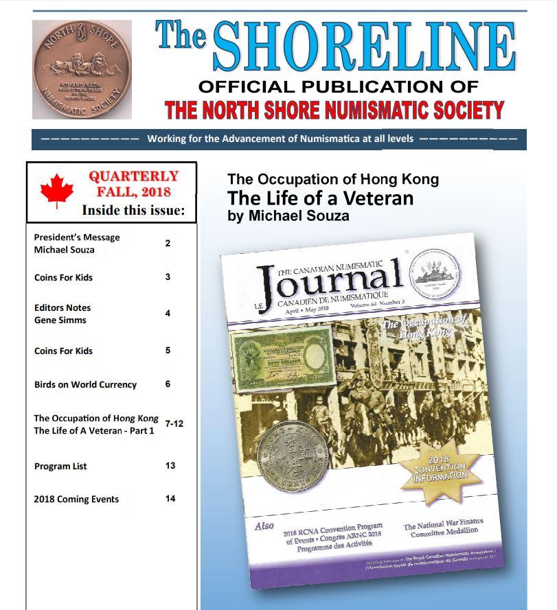 Shoreline Fall 2018 Cover