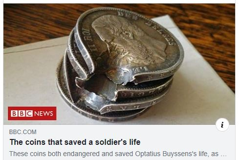 Buyssen coins saved his life